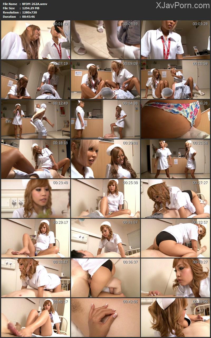 [NFDM-262] 暴行病棟 黒ギャルナースの夜間巡回 Costume Slut 2012/12/05 女王様・M男 顔面騎乗 金蹴り コスチューム Kick Gold