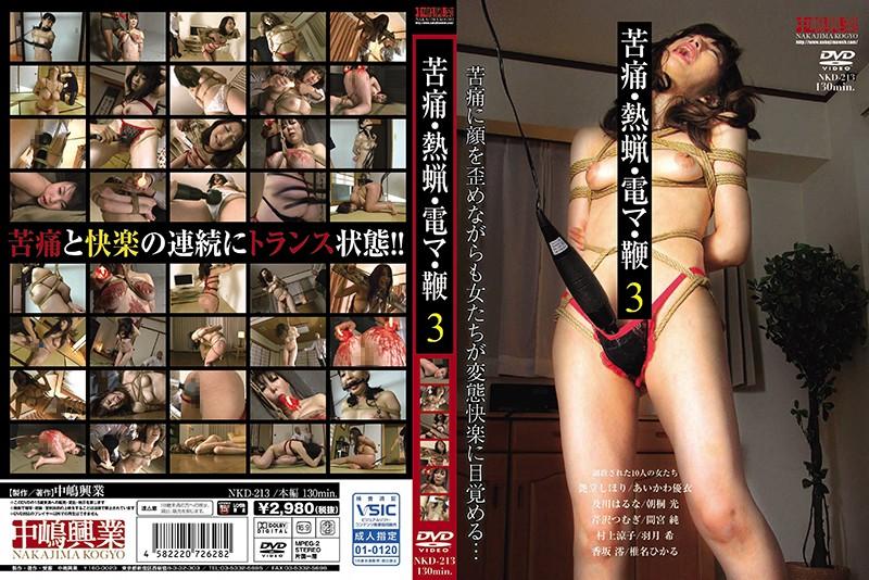 [NKD-213] 苦痛・熱蝋・電マ・鞭 3 中嶋興業 辱め
