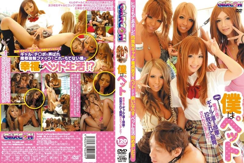 [GAR-195] Kisaki Ema, Naruse Kokomi 僕はペット 童貞の僕がギャルの溜まる部屋に拉致されて飼育されちゃいました 痴女 乱交 Ootsuki Hibiki